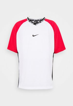 Print T-shirt - white/university red/black