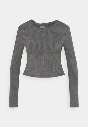 ONLMELIKA - Long sleeved top - medium grey melange