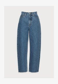 CROPPED NIGHT WASH - Straight leg jeans - blue