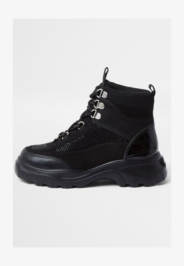 HIKER - High-top trainers - black