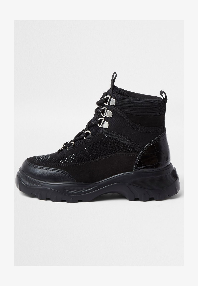 River Island - HIKER - High-top trainers - black