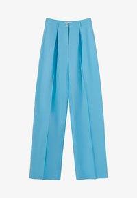 WIDE LEG - Spodnie materiałowe - turquoise