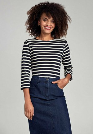 MARINIERE - Long sleeved top - rich navy/nature