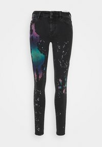 Diesel - SLANDY - Jeans Skinny Fit - black / multicolor - 0