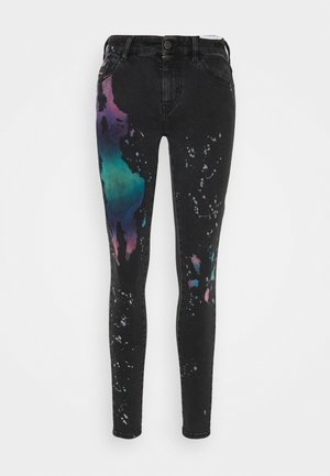 SLANDY - Skinny džíny - black / multicolor