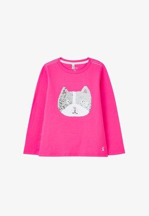 Long sleeved top - rosa katze hund