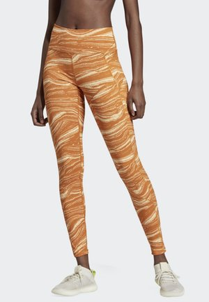 BELIEVE THIS WANDERLUST LEGGINGS - Leggings - orange