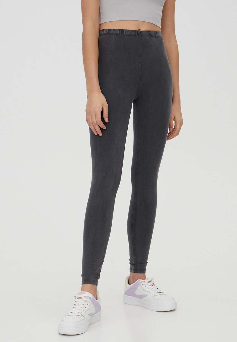 PULL&BEAR - Leggings - Trousers - dark grey