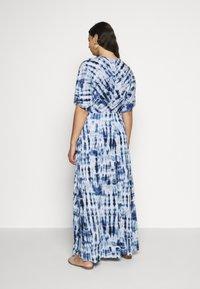 Lauren Ralph Lauren Woman - NIKLOS SHORT SLEEVE CASUAL DRESS - Maxi dress - blue - 2