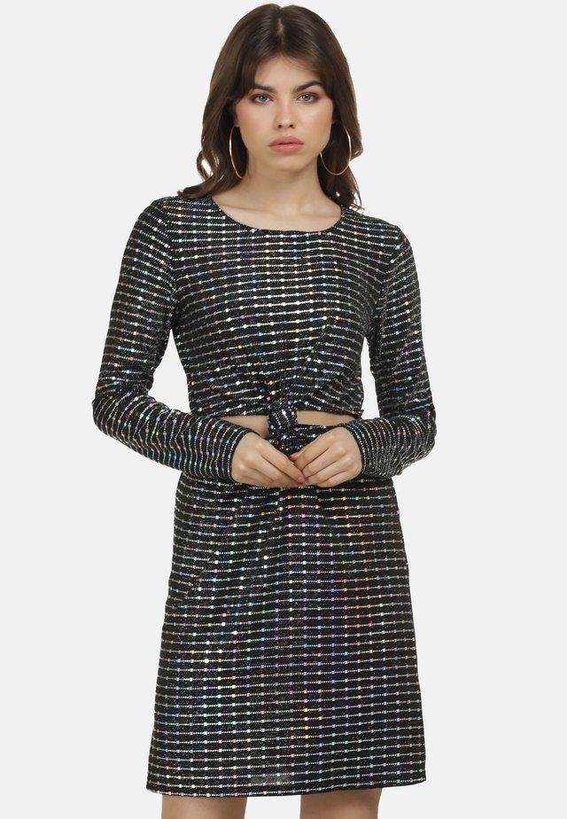 Koktejlové šaty/ šaty na párty - holographic