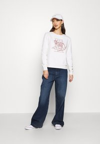 NU-IN - HIGH RISE WIDE LEG JEANS - Relaxed fit jeans - dark blue wash - 1