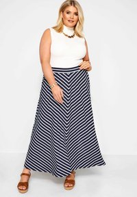 Yours Clothing - Maxi skirt - blue - 1