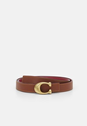 SCULPTED REVERSIBLE BELT - Cinturón - saddle red
