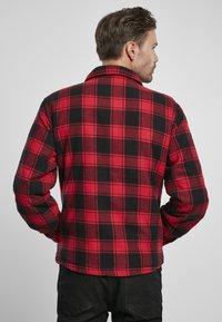 Brandit - Denim jacket - red/black - 2