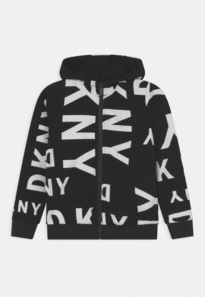 HOODED UNISEX - Zip-up sweatshirt - black/white