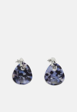 SCULPTED WIDE TEARDROP DROP EARRING - Earrings - blue