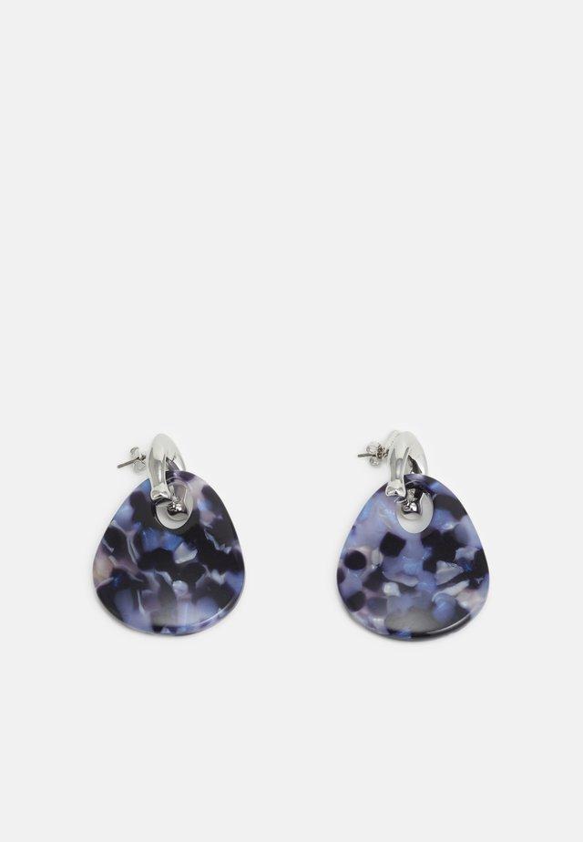 SCULPTED WIDE TEARDROP DROP EARRING - Orecchini - blue