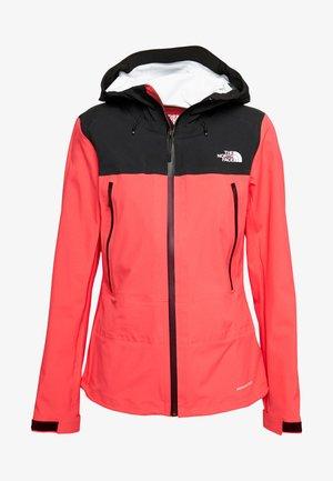 WOMENS TENTE JACKET - Hardshell jacket - cayenne red/black