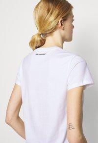 KARL LAGERFELD - SPARKLE PROFILE  - T-Shirt print - white - 4