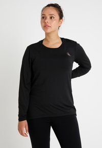 Active by Zizzi - ABASIC - Sports shirt - black - 0