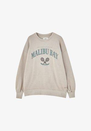 MIT WAPPEN - Sweatshirt - beige
