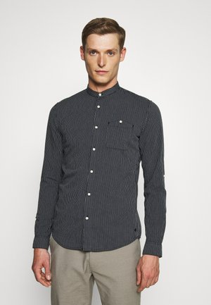 STRIPED STAND UP COLLAR - Shirt - navy/white