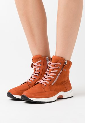 BOOTS - Lace-up ankle boots - rust