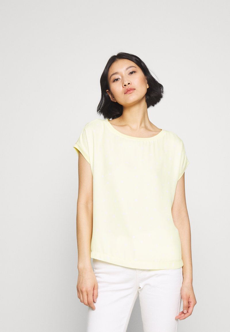 Esprit Collection - BIG GEOMETRIC - Blouse - lime yellow