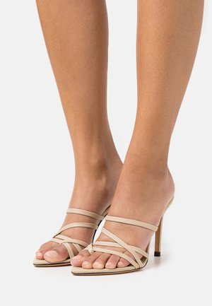 EFFIE - Heeled mules - beige