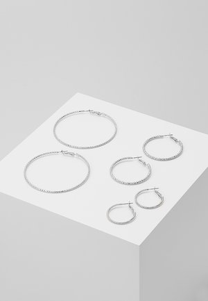 ONLHELLE 3 PACK CREOL EARRINGS - Oorbellen - silver-coloured