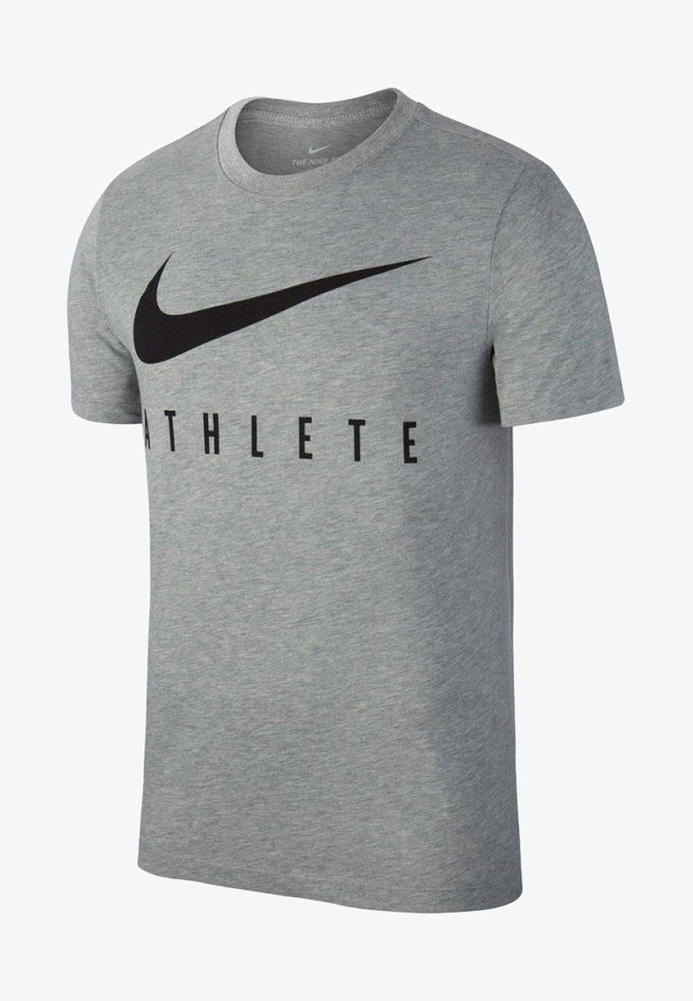 Nike Performance - DRY TEE ATHLETE - Print T-shirt - grey