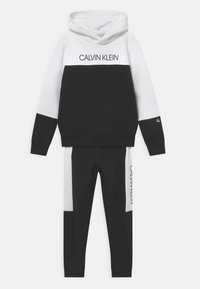 Calvin Klein Jeans - BLOCK HOODIE SET - Chándal - black - 0