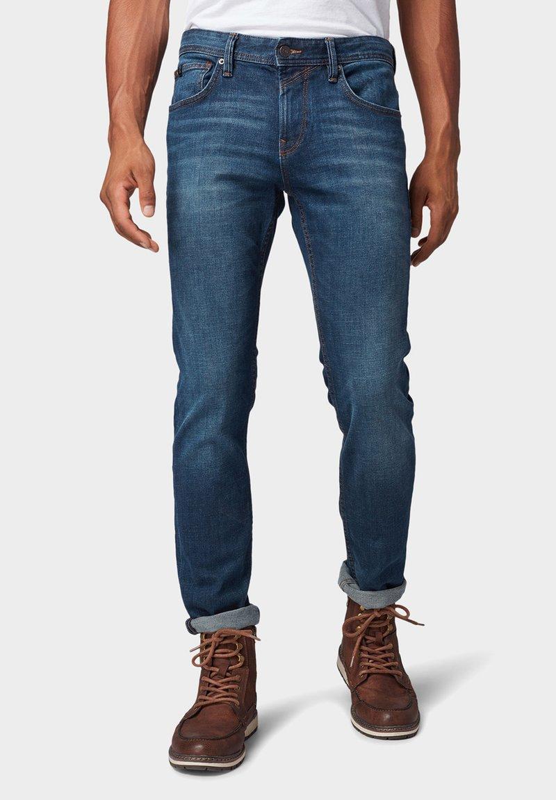 TOM TAILOR DENIM - Slim fit jeans - dark blue denim