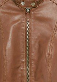Violeta by Mango - CHELASEA - Leather jacket - marron moyen - 5