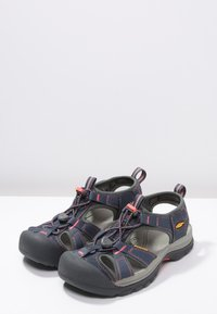 Keen - VENICE H2 - Walking sandals - midnight navy/hot coral - 2