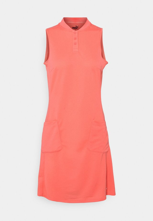 FARLEY DRESS - Jurken - georgia peach