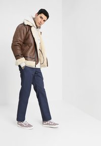 Alpha Industries - Faux leather jacket - brown - 1