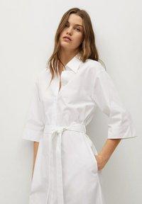 Mango - Košilové šaty - white - 2