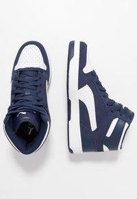 Puma - REBOUND LAYUP UNISEX - Sneakers high - peacoat/white - 1