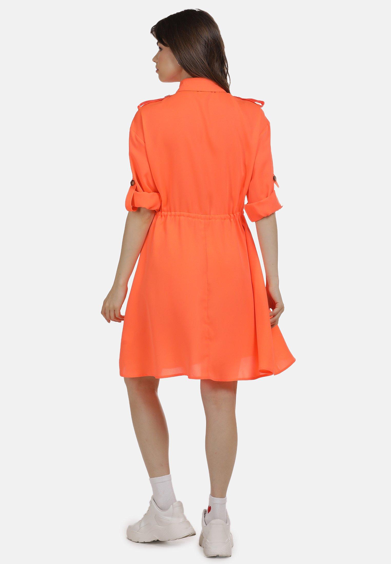 New And Fashion Women's Clothing myMo KLEID Shirt dress neon orange aRCRROpmg