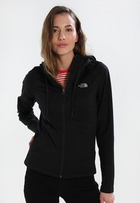The North Face - WOMENS TECH MEZZALUNA HOODIE - Fleece jacket - black - 0
