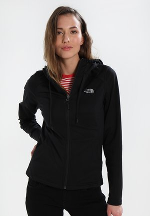 WOMENS TECH MEZZALUNA HOODIE - Fleecejakke - black