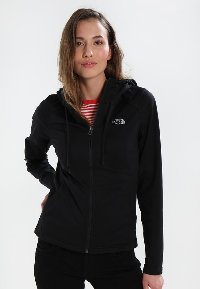 WOMENS TECH MEZZALUNA HOODIE - Forro polar - black
