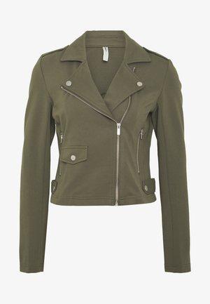 ONLPOPTRASH BIKER JACKET - Summer jacket - kalamata