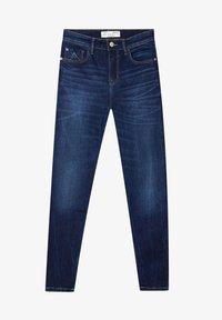 Stradivarius - TIEFEM BUND  - Jeans Skinny Fit - blue denim - 4