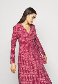 Lauren Ralph Lauren - PRINTED MATTE DRESS - Jerseyklänning - orient red - 4