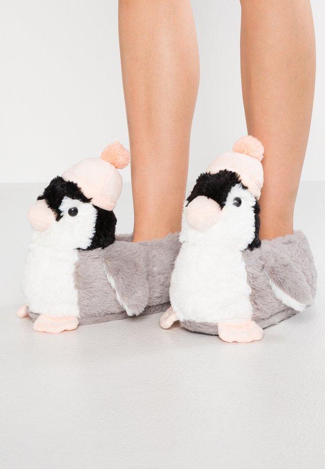 PENGUIN SLIPPER - Pantuflas - grey