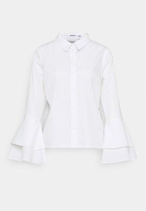 FLARE CUFF SHIRT - Blouse - white