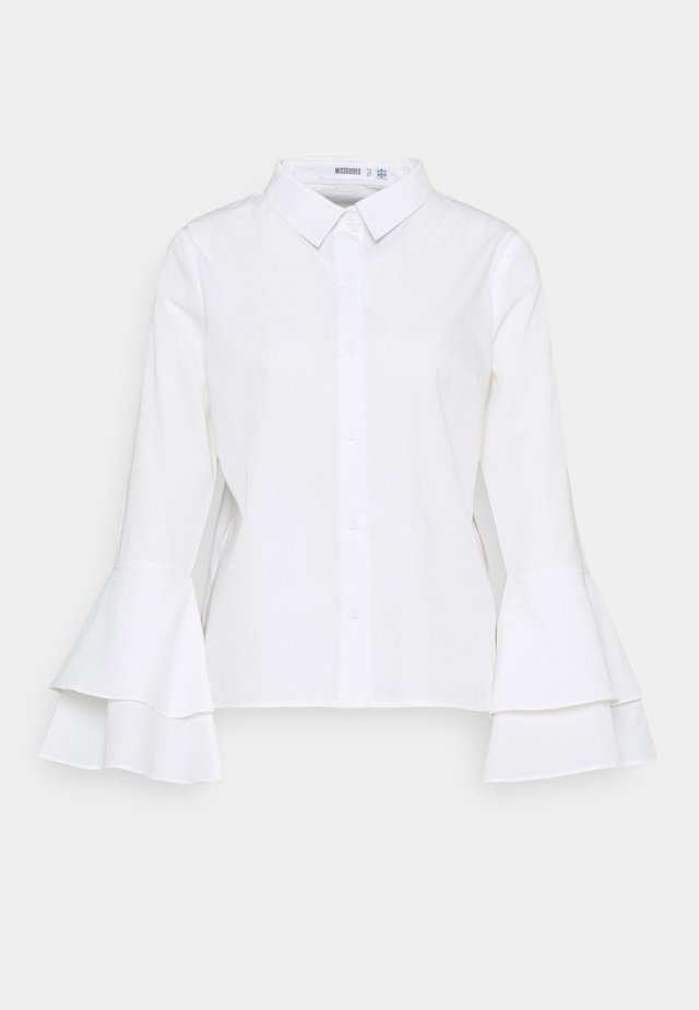 FLARE CUFF SHIRT - Blouse - white