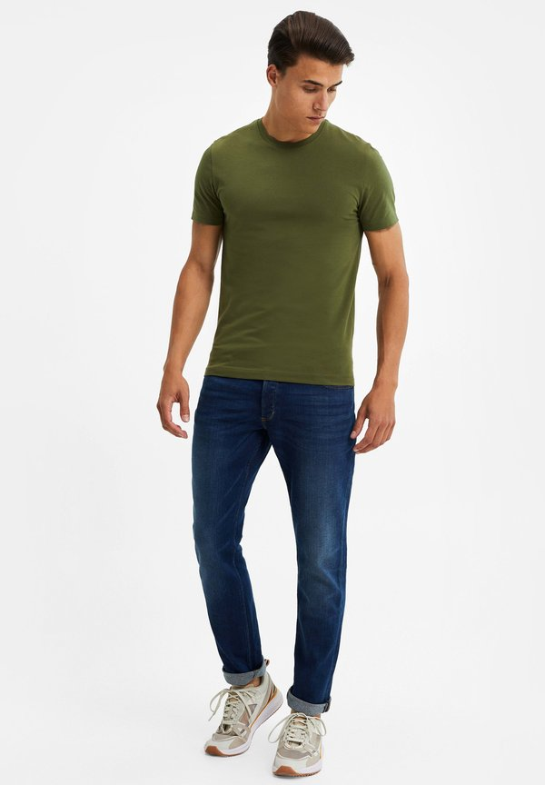 WE Fashion T-shirt basic - olive green/oliwkowy Odzież Męska QDRL